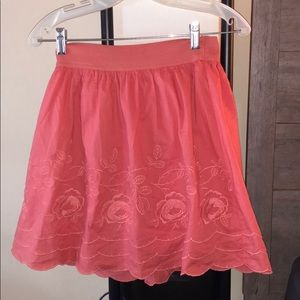 Forever 21 Skirts - Pink floral circle skirt